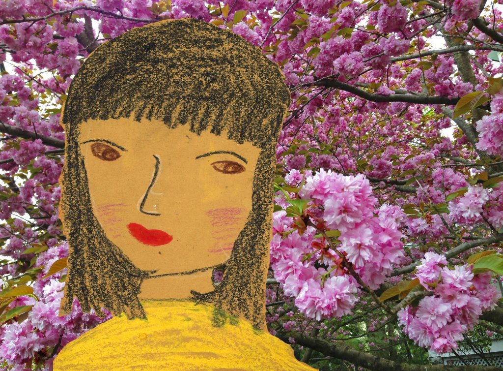 Matisse Girl cherry blossoms